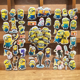 Wholesale Cartoon Despicable Me Minion Wall Stickers D Bubble Paster Wall Book Phone Bubble Posted Wallpaper For Kids Children Gift
