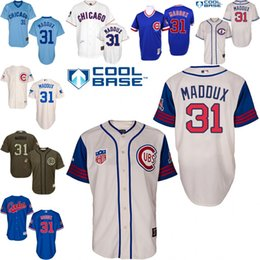 Wholesale Royal Blue Grey Throwback Cream Greg Maddux Authentic Jersey Men s Majestic Chicago Cubs Turn Back The Clock