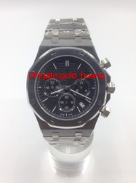 Free Shipping Luxury Top Quality Wristwatch Royal Oak Offshore NAVY stainless steel Quartz Stopwatch Chronograph Mens Watch Men's Watches