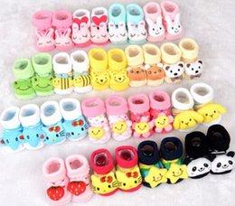 Wholesale Newborn Baby Unisex Anti slip Socks Animal Cartoon Shoes Slipper Boots month Baby Kids Socks Infant outdoor anti slip warm walking sock