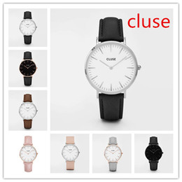 Wholesale Famous Brand Replica Cluse Watches Leather Strap Luxury Watches for Men Minimalism Cluse Ladies Watches