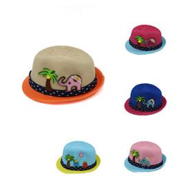2017 New Cartoon Boys Sun Hats Girls Knitted Hats Children Straw Hats Jazz Cap for 2-5 Years Old Kids Spring Summer