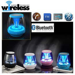 Wholesale 2016 Wireless Bluetooth Speakers Powered Subwoofer LED Light Support TF Card FM MIC Mini Digital Speaker car hands free calls M28