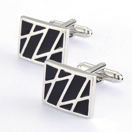 Free shipping black paint men's and women's shirts Cufflinks 960104