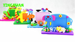 Wholesale 10pcs Kids handmade Animated Photo Frames DIY Cartoon Animal EVA Foam Picture Frame