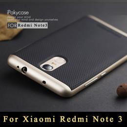 Wholesale-For Xiaomi Redmi Note 3 Case Original IPaky TPU + PC Frame Silicon Case cover for Xiaomi Redmi Note 3 Pro Prime Dual Layer Shell