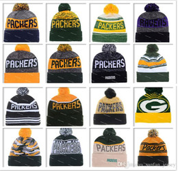 Wholesale Green Bay Football Beanies Winter High Quality Packers Beanie For Men Skull Caps Skullies Knit Cotton Hats On Field