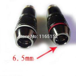 2016 amplificateur vidéo rca 6pcs / lot Copper RCA Plug audio plaqué or adaptateur vidéo pour haut-parleur 6,5 mm Amplificateurs de câble plug in doorbells sans fil bon marché amplificateur vidéo rca