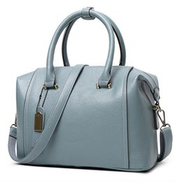 Sac 2016 New European Boston Sac à main femmes Messenger Bag Blue PU cuir Genuin Femmes Femmes Tote bolsa bolsos mujer Rouge FR086 supplier blue boston bags à partir de bleu boston sacs fournisseurs