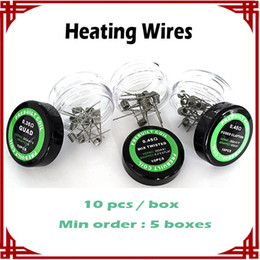 Wholesale big sale Flat twisted wire Fused clapton coils Hive premade wrap Alien wires Tiger Wires Tiger Different Heating Resistance
