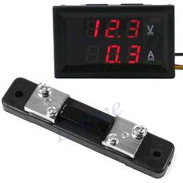 Wholesale J34 DC V A LED Digital Voltmeter Ammeter Voltage AMP Current Sensor Shunt