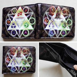 Game The Legend of Zelda Logo 02 wallets Purse Multi-Color 12cm Leather New W201