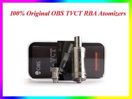 La electrónica de apv en Línea-100% Original OBS TVCT Atomizadores RBA Subohm Tanque T-VCT Actualización por OBS Crius RTA 6ml Coil Electrónica Cigarette Atomizer VS Subtank Plus