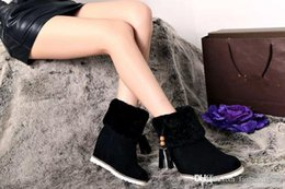Wholesale Hot Vintage Style True wool Snow boots Cow suede Women casual shoes Italy famous brand ASH fashion Increased shoes