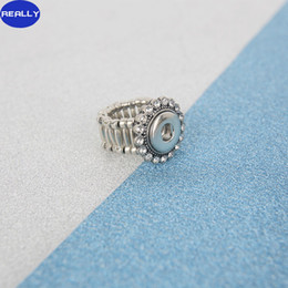 NOOSA Fashion Elastic Rope Style DIY Chunk 12MM Snap Button Ring with Rhinestone Noosa Jewelry for Free Style