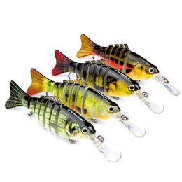 "Hot New Wholesale 4pcs Lot Proberos Fishing Lure 7Sections Swimbait Bait Tackle 11.2cm 4.4""-0.49oz"
