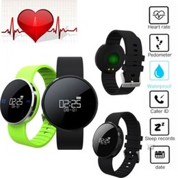 Wholesale UW1 Smart Fitness Tracker Wristband Heart Rate Monitor Pedometer Vibration Motor Blue LED Bluetooth Smart Watch