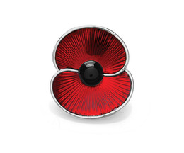 1.2 Inch Red Poppy Collection Red Enamel Poppy Flower Brooch Pins Both Silver and Gold Available