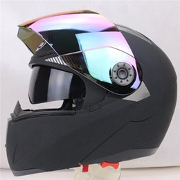 Wholesale New Arrivals Best Sales Safe Flip Up Motorcycle Helmet With Inner Sun Visor Everybody Affordable Double Lens Motorbike Helmet