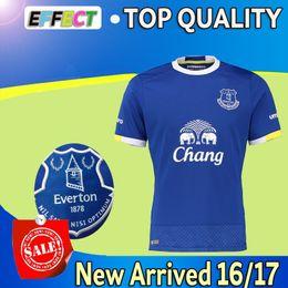 Wholesale Whosales Thailand Quality Everton Home Blue Soccer Jerseys Uniforms Maillot de foot LUKAKU MIRALLAS BARKLEY ETO O football shirts