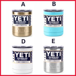Wholesale New Color YETI oz Lowball Bottle Cups Rambler Mugs Colster Coated Painted Colored Gold Silver Blue White Stainless Steel Cans In Stock
