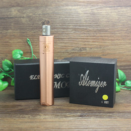 Wholesale-Free shipping Good quality Praxis mech mod + Plume Veil RDA tank copper gold 510 thread