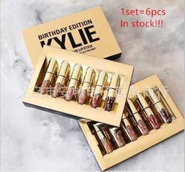 Wholesale In Stock Factory Direct Kylie Cosmetics Matte Liquid Lipstick Mini Kit Lip Birthday Edition Limited With the Golden Box set Lip Gloss