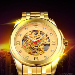 WEIGUAN Automatic Mechanical Watch for Man Casual Luxury Brand Sport Fashion Crystal Waterproof Gold Business Skeleton Watch