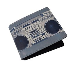 Wholesale 2016 Fashionable Ghetto Blaster Boom Box Radio Unisex Short Wallet Card Holder Bag Have Stock In UK