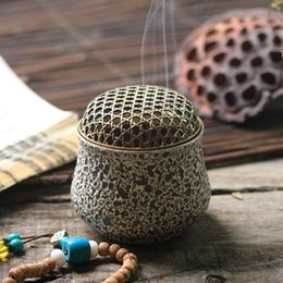 Wholesale Antique Japanese ceramic aromatherapy incense furnace burning incense handwarmer road empty incense furnace room appliances sandalwood incen