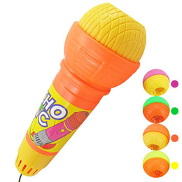 Wholesale Children's creative toys microphone. No batteries unplugged microphone echo, echo cylinder four-color plus black line