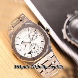 Wholesale Super Clone Cheap Brand Luxury New Royal Oak Dual Time Power Reserve Mens Watch ST OO ST Automatic Stainless steel Gents Watch