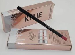 Wholesale 16 HOT good quality Lowest Best Selling good sale NEW Makeup KYLIE LIP LINE PEN
