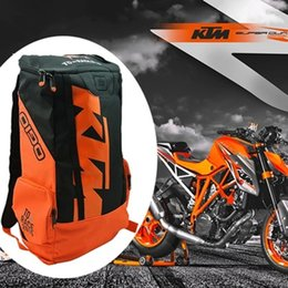 Wholesale 2016 KTM Brand Cycling Motorcycle Backpack Bags Long Distance For Travel Bag Packed Water Bottle Luggage Case