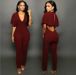 Wholesale Summer Sexy Rompers Womens Jumpsuit Elegant Bandage Jumpsuits For Women Sexy Backless Playsuit Club Bodysuits Combinaison Femme