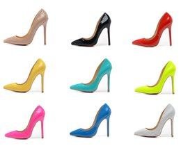 Wholesale Colors Fashion cm poined Toe Pumps sale cheap high heels online Fashion high heels leather shoes