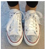 Wholesale 2016 new classic white canvas laces to help low flat women men shoes DIY fashion style diamond spark