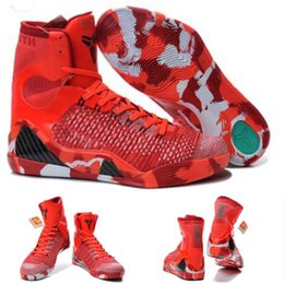 (With shoes Box) 2016 New Bryant Kobe 9 IX KB Elite High Christmas 630847-600 DS Brand New Prelude FTB Men Boots Shoes