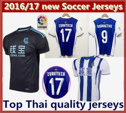 Top Thai quality 2016 2017 Real Sociedad Home soccer jersey 16 17 Real Sociedad A Girretxe CANALES PRIETO away Football shirts