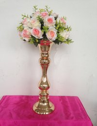 Wholesale New arrival height cm gold wedding table centerpieces vase decoration event party supplies
