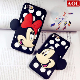 Wholesale Soft Silicone Pen - Fashion Cartoon Mickey Minnie Soft Silicon Phone Back Cover Case For iPhone 5 5C 5S SE 6 6S 6Plus 6SPlus with Screen Protector+Pen