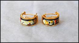 Dreams and Roses Series Hoop earring 18K gold-plated enamel earrings for woman Top quality hoop earrings designer jewelry