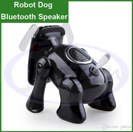 Wholesale Robot Dog bluetooth Stereo Speaker Subwoofers Mini Portable Wireless Bluetooth V3 Speakers With U Disk TF Card Mic AUX DHL free ship