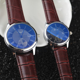 Wholesale Water proof Genuin leather band stainless steel case auto calender quartz movement Gerryda fashion lover couple watches