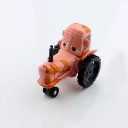 Wholesale Brand new quality kid tiny mini cute cars toys mooing cow tractors model alloy metal diecast car toy truck pixar for children