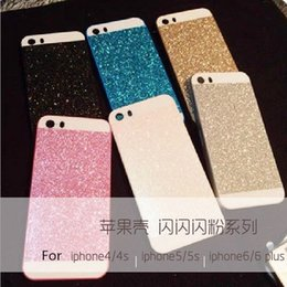 Wholesale For IPhone s s Plus Glitter Powder Mobile Phone Case Three Paste Glitter Protection Cases Cover qs