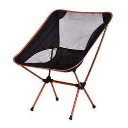 Wholesale Orange Chair Folding Seat Stool Fishing Camping Hiking Beach Backpack