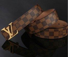 Wholesale 2016 new hip brand buckle l designer belts for men women genuine leather gold cinto belt v Men s