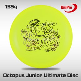 Wholesale-Free Shipping 135g Professional Junior UltiPro Ultimate Frisbee Yellow Octopus