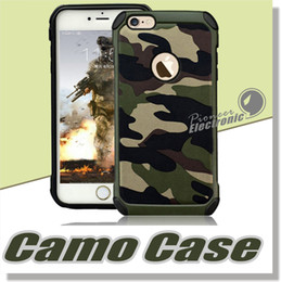 Wholesale Iphone s Plus Case Camo Case Defender Shockproof Drop proof High Impact Armor Plastic and Leather TPU Hybrid Rugged Camouflage Cover Case
